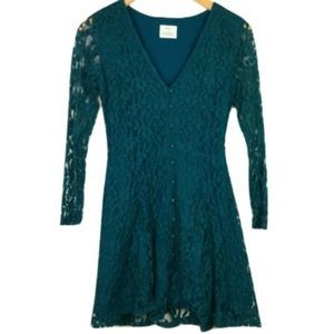 Urban Outfitters Pine Green Lace Dress
